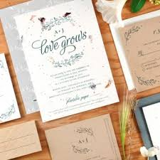 paper invitations plantable wedding invitations seed paper favors eco friendly