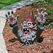 halloween decorations zombie shop design toscano zombie gnombie zombie garden gnome sculpture
