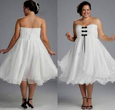 black and white wedding dresses plus size tea length naf dresses