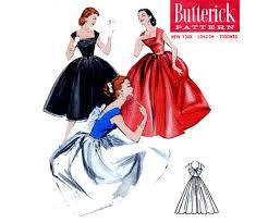 stunning 50s shelf bust evening wedding dress pattern butterick