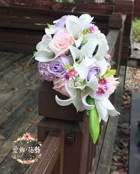 Wedding Bouquets Cheap Online Get Cheap Bridal Bouquets Purple Aliexpress Com Alibaba
