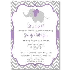 chevron elephant purple baby shower invitation u2013 the invite lady