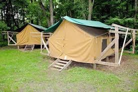 platform tents at lakamaga scouts river valleys camps