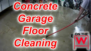 Zep Concrete Floor Cleaner by Cleaning U0026 Degreasing A Concrete Garage Floor Youtube
