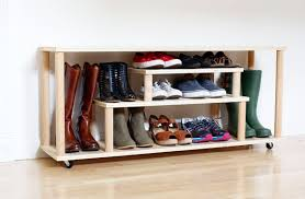diy shoe rack for the entryway or mudroom