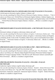 oxford english dictionary free download full version pdf dizionario inglese italiano italiano inglese english italian