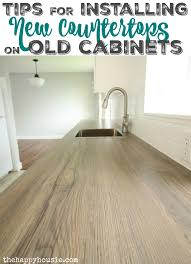 how to attach a countertop to a wall without cabinets how to install new countertops on old cabinets the happy housie