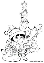 dora explorer christmas coloring pages