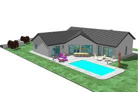 plan de maison en v plain pied 4 chambres plan maison en l 100m2 4 recherche plan de maison en v env