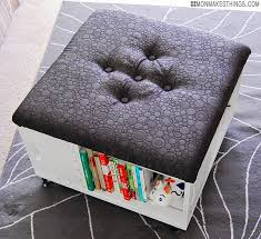 Upholstered Storage Ottoman Coffee Table Magnificent Diy Storage Ottoman Coffee Table With Upholstered