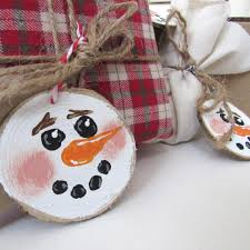 set of 4 rustic christmas ornaments christmas gift tags gifts