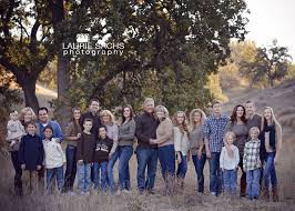 large family photography smaller families grouped together