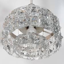 Art Deco Lighting Fixtures Chandeliers German Art Deco Faceted Square Crystal Prism Chandelier For Sale