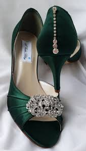 wedding shoes green green wedding shoes with vintage style rectangle brooch and