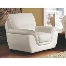 canapé et fauteuil cuir fauteuil cuir kalmia blanc la maison du canape la redoute