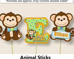monkey centerpieces for baby shower boy monkey baby shower decorations monkey birthday