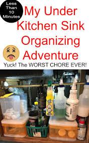 Under Kitchen Sink Organizer by My Under Kitchen Sink Organizing Adventure