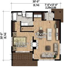 contemporary style house plan 1 beds 1 00 baths 815 sq ft plan
