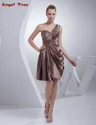 click to buy u003c u003c don u0027s bridal knee length one shoulder short