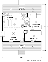 2 bedroom home floor plans cottage plan 953 square 2 bedrooms 1 5 bathrooms 036 00005
