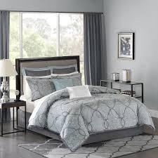 Gray Bed Set Park Mp10 1665 Lavine 12piece Jacquard