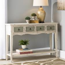 Foyer Table With Drawers August Grove Lula 4 Drawer Console Table U0026 Reviews Wayfair