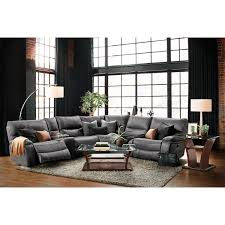 gray reclining sofa orlando 6 piece power reclining sectional with 1 stationary chair