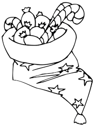 candy coloring pages santa hat holding a bunch of christmas candy coloring page free
