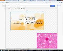 business card template google docs template design