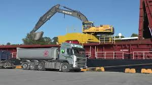 volvo trucks holland volvo ec460c excavator loading sand on scania trucks and volvo