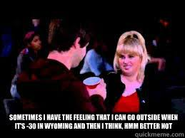 Fat Amy Memes - sometimes i have the feeling that i can go outside when it s 30 in