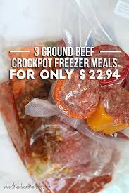3 ground beef crockpot freezer meals for only 22 94 u2013 new leaf