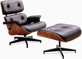 charles eames lounge chair and ottoman black white brown leather