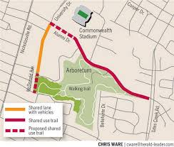 kentucky backroads map arboretum bicycle trail forward despite criticism from