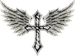 these cross tattoos with wings are sure to look uniquely ethereal