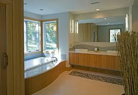 Bamboo Bath Vanity Cabinet Eco Friendly Cabinets Bathroom Modern With 3 Form Backsplash
