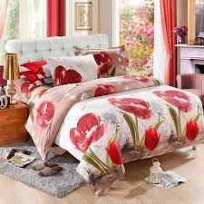 Gray And Red Curtains Bedroom Awesome Domestications Bedding For Your Bedroom