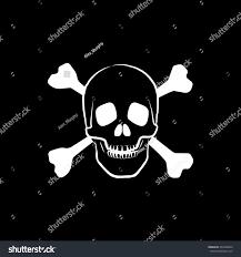 halloween skull background skull bones halloween concept flat icon stock vector 493420042