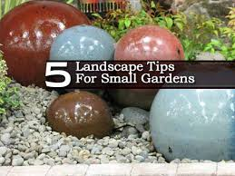 Rock Garden Features 5 Landscape Gardening Tips For Small Spaces