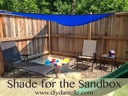 shade for the sandbox diy danielle