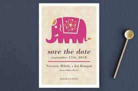 Save The Dates Postcards Indian Elephant Save The Date Postcards By Alex Elko Design Minted