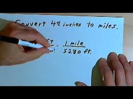 converting between inches feet yards and miles 128 2 4 youtube