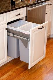 Kitchen Cabinet Trash Can Pull Out Pull Out Garbage Can Container Pull Out Double Recycling 35 Quart