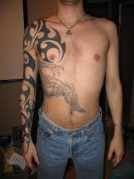 bc japanese half chest tattoos for bc