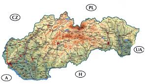 Ua Map Detailed Road And Physical Map Of Slovakia Slovakia Detailed Road