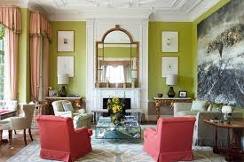 country house style green paint living room ideas