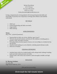 resume template for caregiver position how to write a perfect caregiver resume examples included caregiver resume entry level