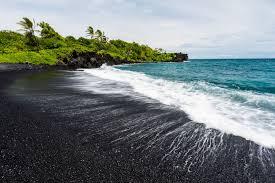 black sand beach hawaii 20 best black sand beaches in the world where are black sand