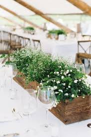 2017 wedding trend greenery wedding color ideas wooden planters