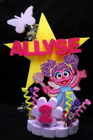 sesame cake toppers abby cadabby birthday cake topper party centerpiece centerpieces